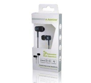 In-ear headphone with mic black