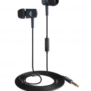 In-ear headphone with mic black
