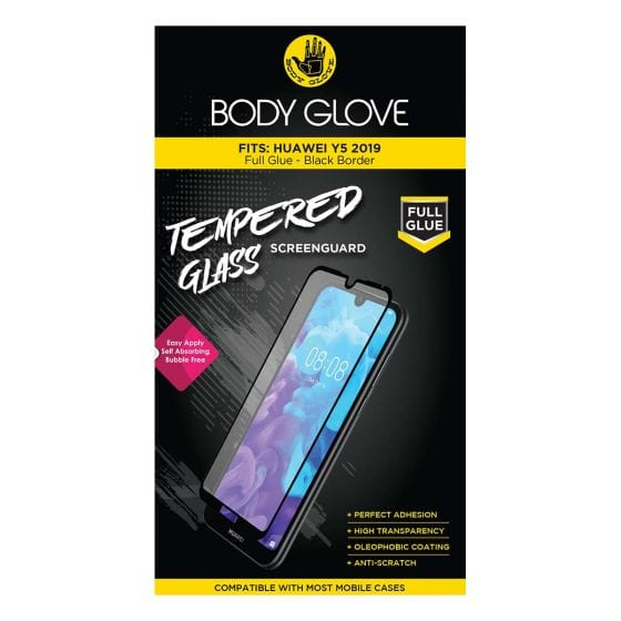Body Glove Huawei Y5 2019 Full Glue Tempered Screen Guard – Black