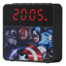 Marvel Alarm Clock Radio Bluetooth Speaker – Avengers-Boys