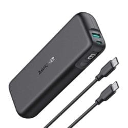 RAVPOWER 15000mAh QC 3.0 12W|Type-C 18W|Digital Display Power Bank – Black