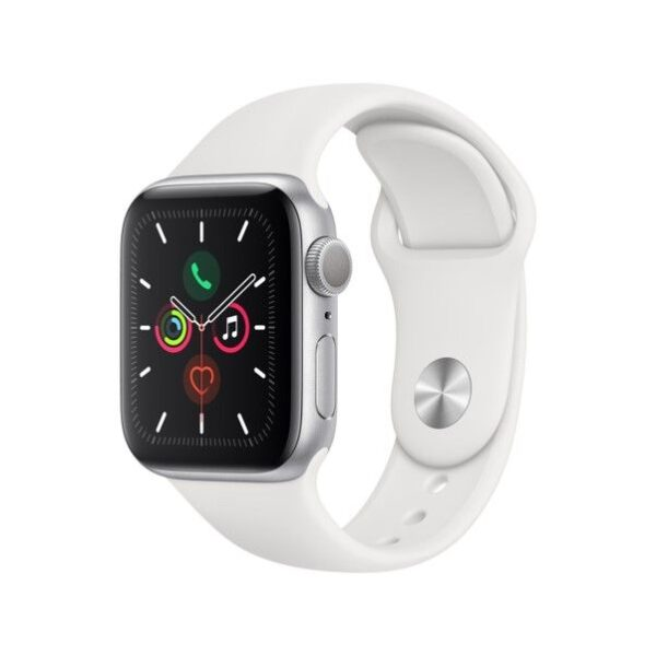 Apple Watch Series 5 Gps 40Mm – Silver Aluminiun Case With White Sport Band