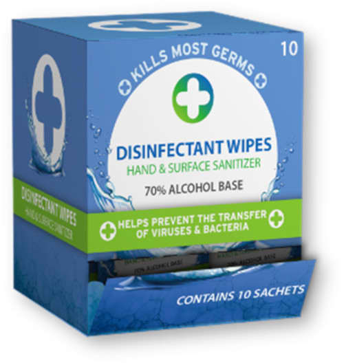Liquid Clinic Single Use Disinfectant Wipes – 10 Pack