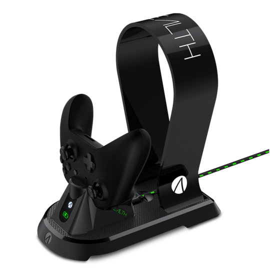 STEALTH SX-C60 Charging Station with Headset Stand (Black)