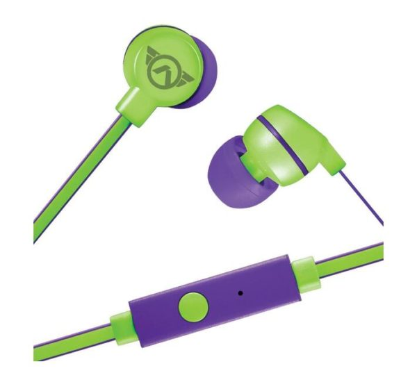 Amplify Sport Quick series Earbuds with Mic – Green/Purple