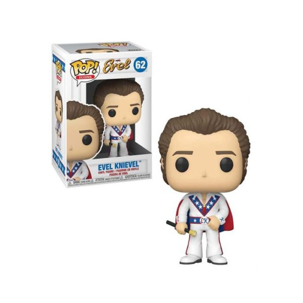 Funko Pop! Evel Knievel With Cape And Chase