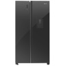Hisense 514L No Frost Side by Side Fridge with Water Dispenser-Black Glass
