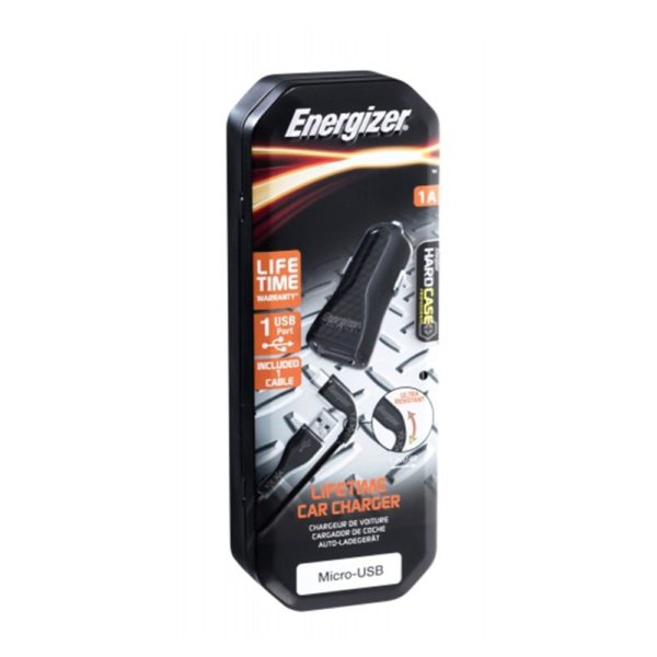 Energizer Car Charger 1A + Micro USB Cable – Black