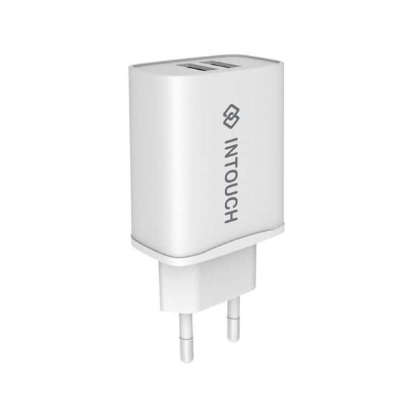 Intouch Dual Wall Charger 3.4A – White